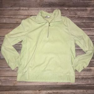 St.John Sport Green Half Zip Sweater Size Medium